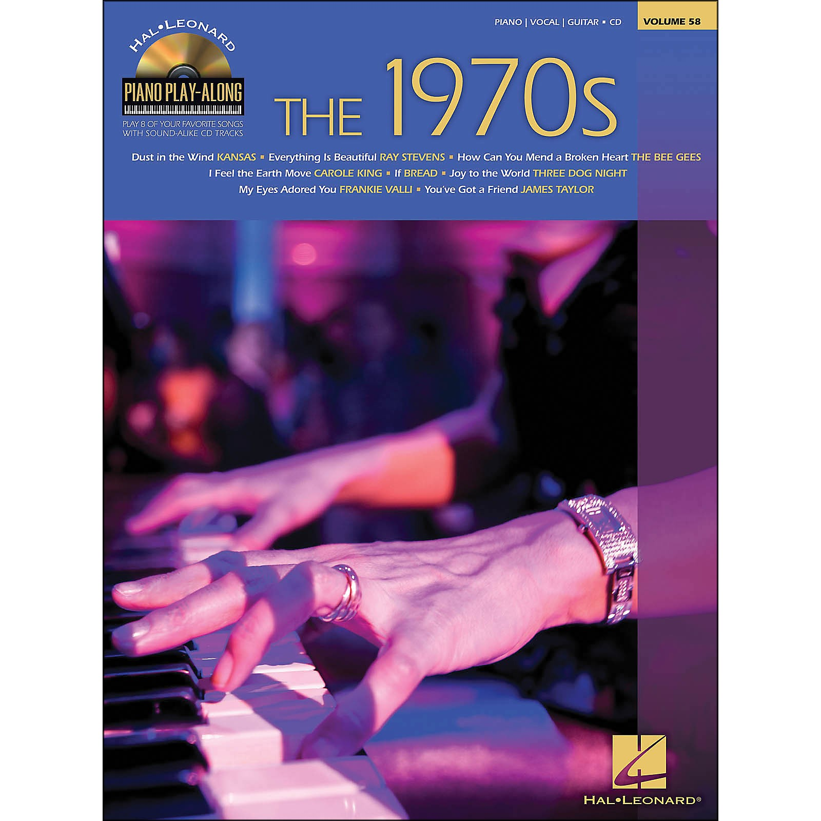 Hal Leonard The 1970s - Piano Play-Along Volume 58 (CD/Pkg) arranged for piano, vocal, and guitar (P/V/G)
