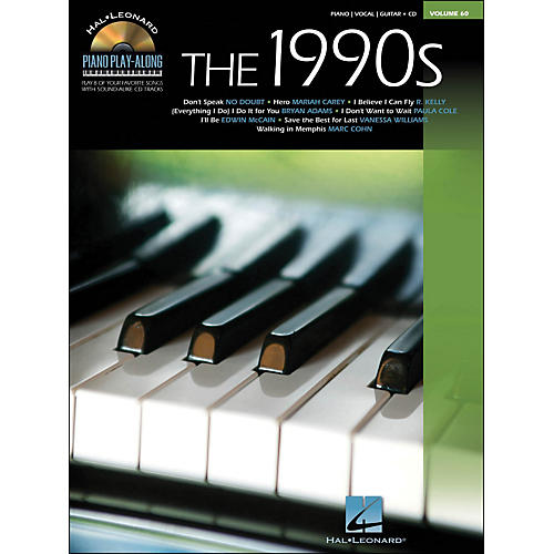 Hal Leonard The 1990s Piano Play-Along Volume 60 Book/CD arranged for piano, vocal, and guitar (P/V/G)