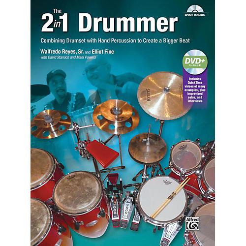 Alfred The 2-in-1 Drummer by Walfredo Reyes Sr Book & DVD