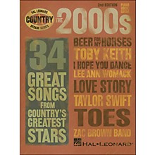 Hal Leonard The 2000s Country Decade Series arranged for piano, vocal, and guitar (P/V/G)