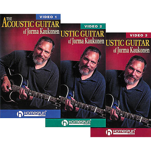 Homespun The Acoustic Guitar of Jorma Kaukonen 3-Video Set (VHS)