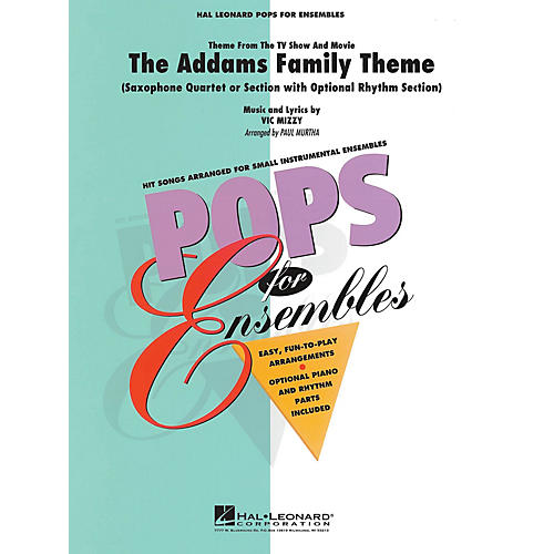 Hal Leonard The Addams Family Theme Concert Band Level 2-3 Arranged by Paul Murtha