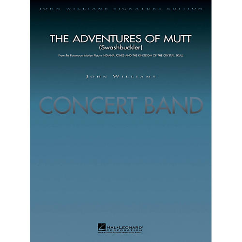Hal Leonard The Adventures of Mutt (from Indiana Jones & The Kingdom of the Crystal) Concert Band Level 5 by Lavender