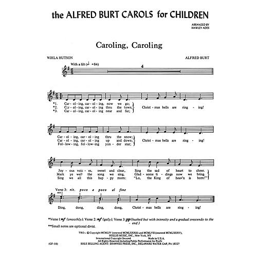 Shawnee Press The Alfred Burt Carols for Children UNIS arranged by Hawley Ades