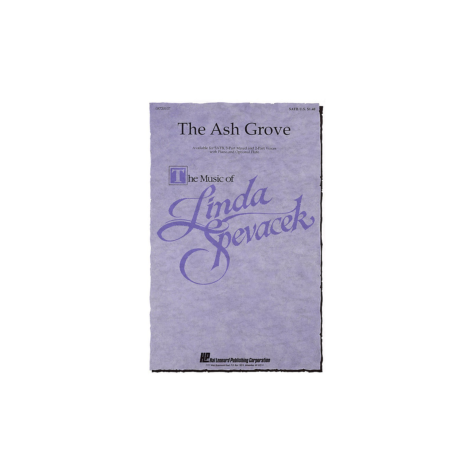 Hal Leonard The Ash Grove 2-Part Arranged by Linda Spevacek
