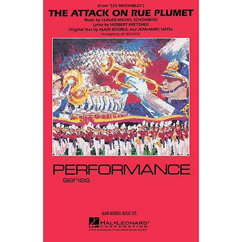 Hal Leonard The Attack on Rue Plumet (from Les Misérables) Marching Band Level 3-4 Arranged by Jay Bocook