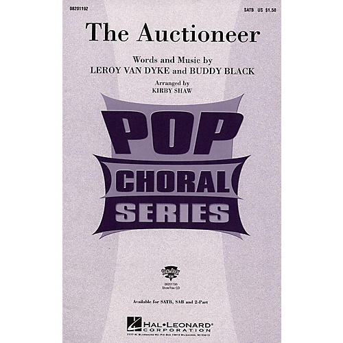 Hal Leonard The Auctioneer (ShowTrax CD) Arranged by Kirby Shaw