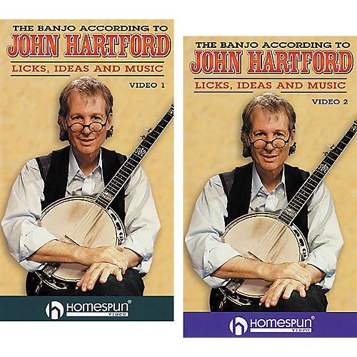 Homespun The Banjo According to John Hartford 2-Video Set (VHS)