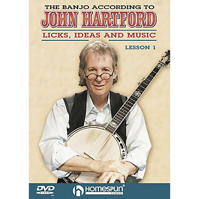 Homespun The Banjo According to John Hartford (DVD 1) DVD/Instructional/Folk Instrmt Series DVD by John Hartford