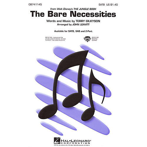 Hal Leonard The Bare Necessities (from The Jungle Book) SATB arranged by John Leavitt