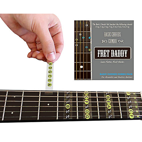 Fret Daddy The Basic Chords Combo Pack for Electric/Acoustic Guitar ...