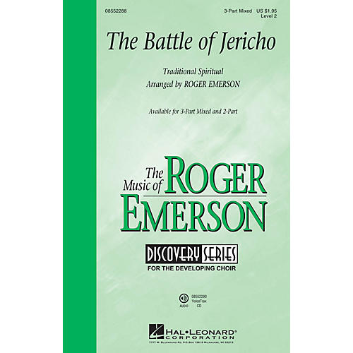 Hal Leonard The Battle of Jericho (Discovery Level 2) 3-Part Mixed arranged by Roger Emerson