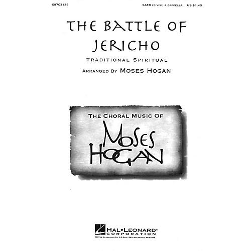Hal Leonard The Battle of Jericho SATB DV A Cappella arranged by Moses Hogan
