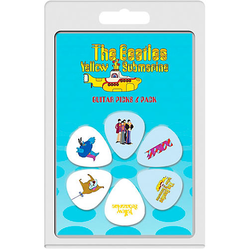 Perri's The Beatles - 6-Pack Guitar Picks Yellow Sub 1