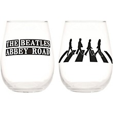 Vandor The Beatles Abbey Road 2 pc. 18 oz. Contour Glass Tumbler Set