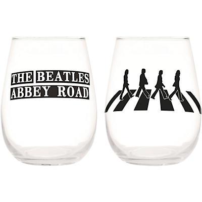 Vandor The Beatles Abbey Road 2 pc. 18 oz. Contour Glass Tumbler Set