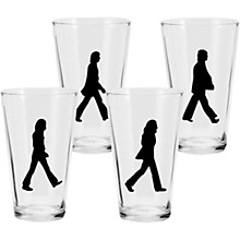 Vandor The Beatles Abbey Road 4 pc. 16 oz. Glass Set