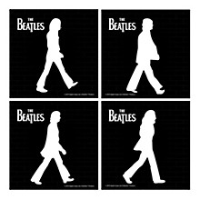 Vandor The Beatles Abbey Road Ceramic Coaster Set of 4