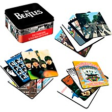 Vandor The Beatles Album Covers - 13 Piece Coaster Set With Tin Storage Box