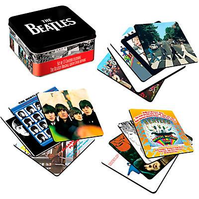 Vandor The Beatles Album Covers - 13 Piece Coaster Set With Tin Storage Box