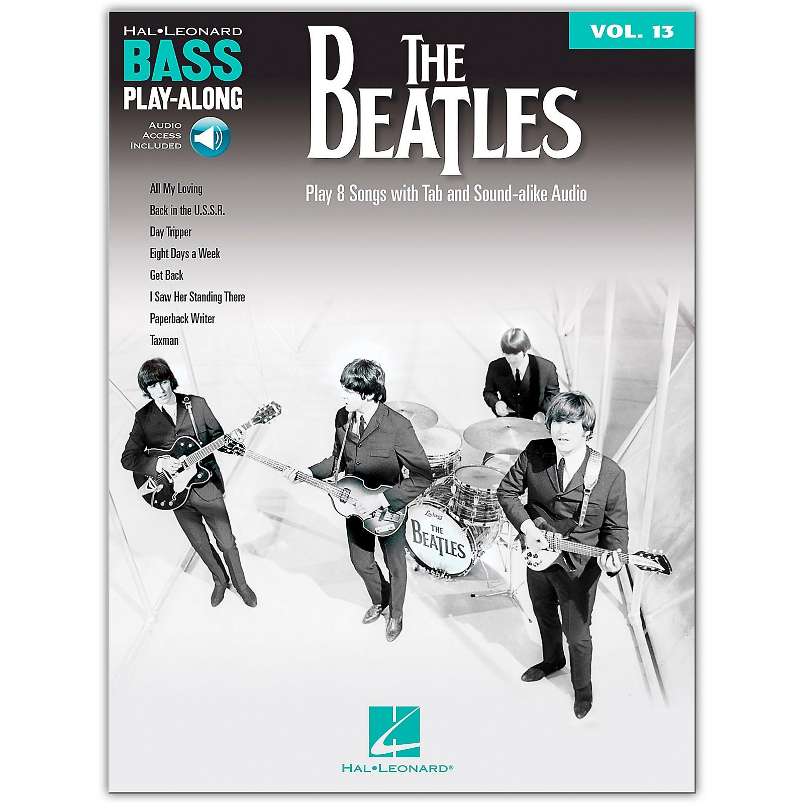 Hal Leonard The Beatles Bass Play-Along Volume 13 Book/Online Audio