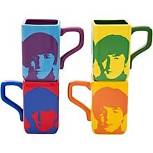Vandor The Beatles Color Bar 4 pc. 12 oz. Square Mug Set