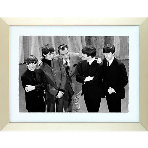Mirrorpix The Beatles Feb. 9th, 1964 Black and White Framed Print