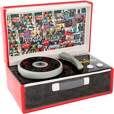 Vandor The Beatles Singles Collection Record Player Sculpted Ceramic Cookie Jar