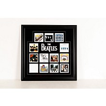 "Open Box Mounted Memories The Beatles ""U.K. Album Covers"" Framed Presentation"