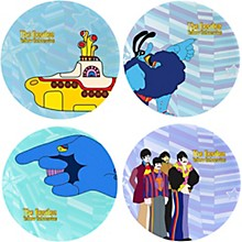 Vandor The Beatles Yellow Submarine 4 pc. 10 in. Ceramic Plate Set