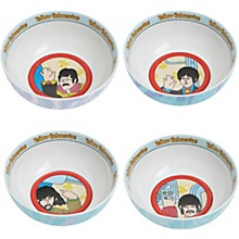 Vandor The Beatles Yellow Submarine 4 pc. 6 in. Ceramic Bowl Set