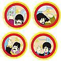 Vandor The Beatles Yellow Submarine 4 pc. 8 in. Ceramic Plate Set thumbnail