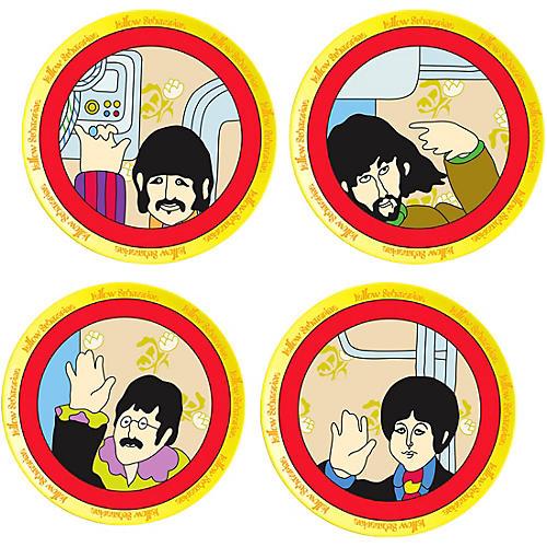 Vandor The Beatles Yellow Submarine 4 pc. 8 in. Ceramic Plate Set