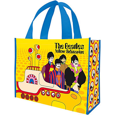 Vandor The Beatles Yellow Submarine Large Recycled Shopper Tote
