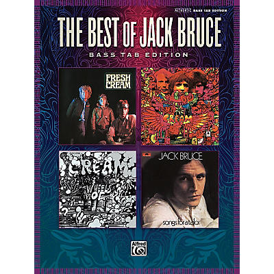 Alfred The Best Of Jack Bruce: 13 Classics From Cream And Beyond Bass Tab Book