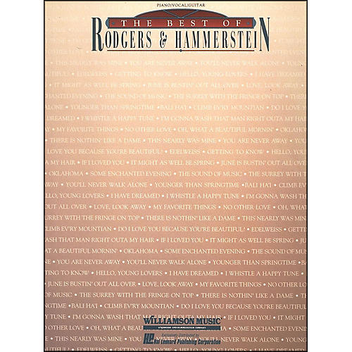 Hal Leonard The Best Of Rodgers And Hammerstein arranged for piano, vocal, and guitar (P/V/G)