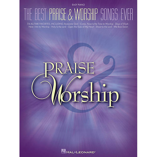 Hal Leonard The Best Praise & Worship Songs Ever For Easy Piano