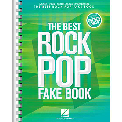 Hal Leonard The Best Rock Pop Fake Book - For C Instruments