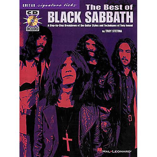 Hal Leonard The Best of Black Sabbath Signature Licks for Guitar Book with CD