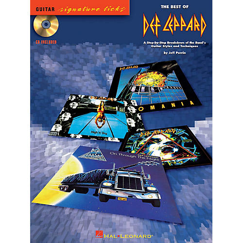 Hal Leonard The Best of Def Leppard Signature Licks Guitar Series Softcover with CD Performed by Def Leppard