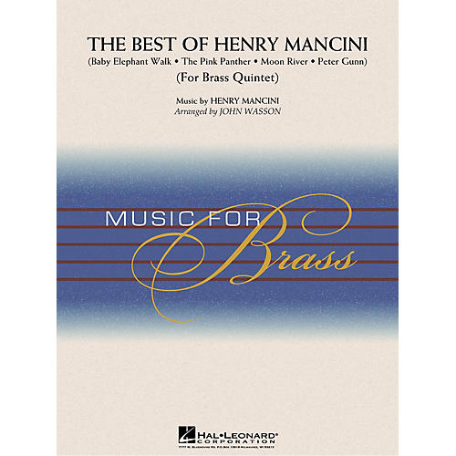 Hal Leonard The Best of Henry Mancini (Brass Quintet (opt. Percussion)) Concert Band Level 3-4 by John Wasson