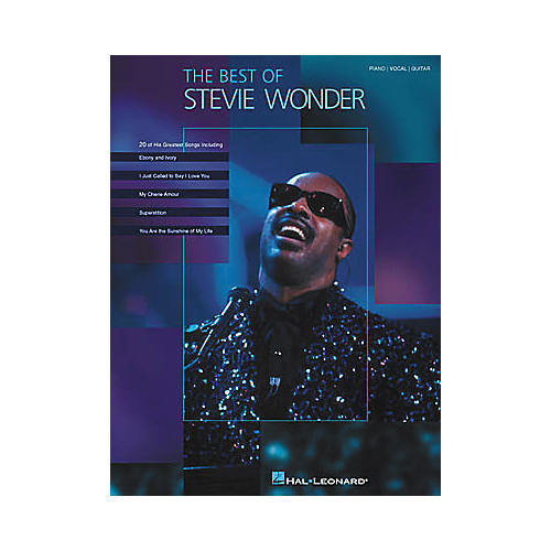 Hal Leonard The Best of Stevie Wonder Piano/Vocal/Guitar Artist Songbook