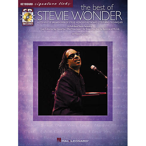 Hal Leonard The Best of Stevie Wonder Signature Licks Keyboard Series Softcover with CD Performed by Stevie Wonder