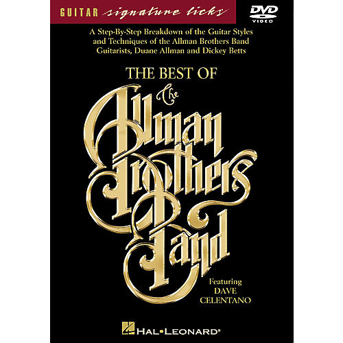 Hal Leonard The Best of The Allman Brothers Band Signature Licks DVD