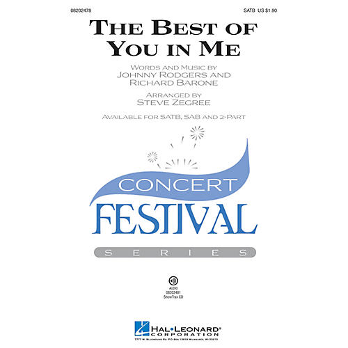 Hal Leonard The Best of You in Me 2-Part Arranged by Steve Zegree
