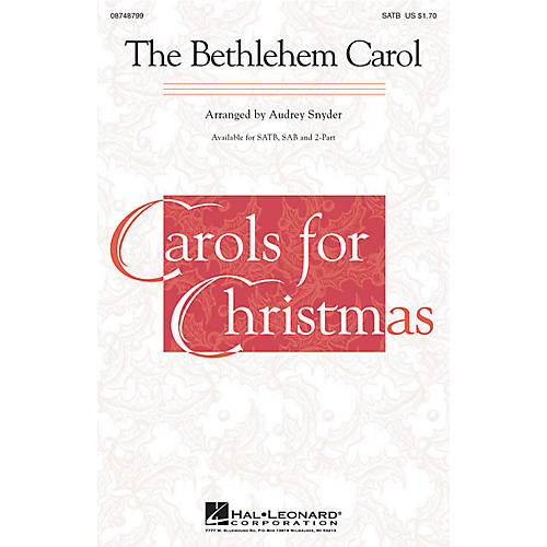 Hal Leonard The Bethlehem Carol SAB Arranged by Audrey Snyder