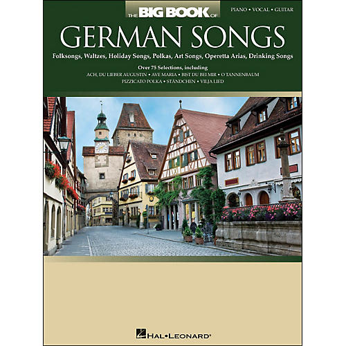 Hal Leonard The Big Book Of German Songs arranged for piano, vocal, and guitar (P/V/G)