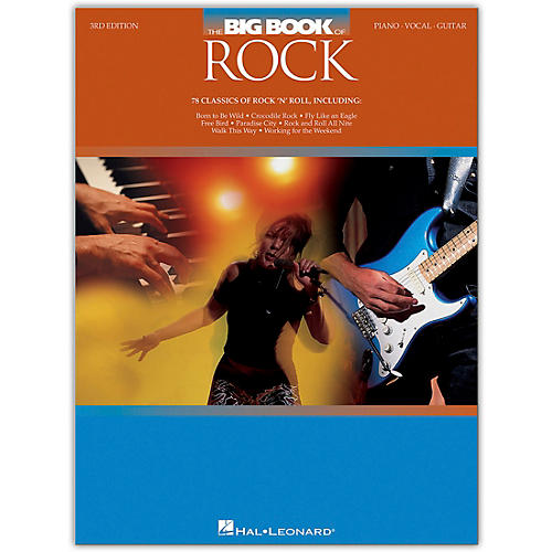 Hal Leonard The Big Book of Rock - 3rd Edition Piano/Vocal/Guitar Songbook Series Softcover Performed by Various