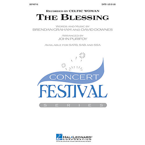 Hal Leonard The Blessing SAB by Celtic Woman Arranged by John Purifoy