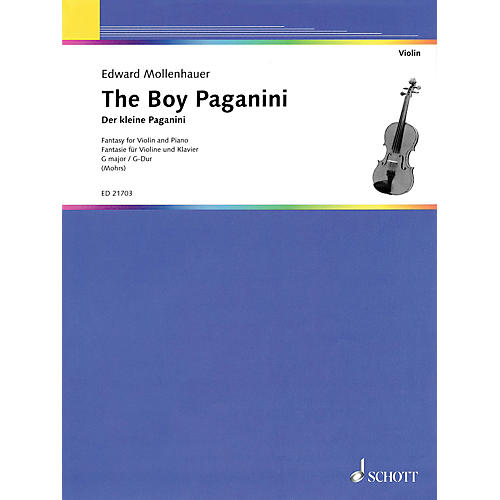 Schott The Boy Paganini [Der kleine Paganini] (Fantasy for Violin and Piano) String Series Softcover